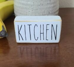 Kitchen Rustic Wood Sign Small Hand Painted Home Decor $8.00