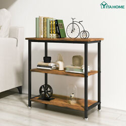 YITAHOME 3 Tier Sofa Side Table Rustic End Table Nightstand Table Living Room $53.99