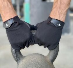 Women Men Gym Gloves Leather Palm For Workout Weight Lifting Fitness Exercise $9.95