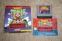 Mario Tennis FOR DISPLAY ONLY Nintendo Virtual Complete in Box NEAR MINT $449.99