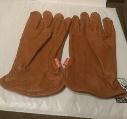 Vintage Marlboro Mens Genuine Finished Leather Gloves Brown Size L XL NEW  $20.00