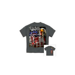 MISC NOVELTY CLOTHING RN2335XL TRUCKER AMERICAN PRIDE T SHIRT X LARGE $19.40