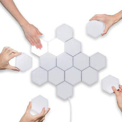 TOUCH SENSITIVE HEXAGON LIGHTS FOR WALL FOR BEDROOM LIGHT UP GAMING LED 10 PACK $49.99