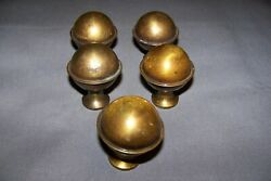 Used Brass Plate Over Metal Small Ball Shape Finials $25.00