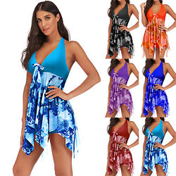 Women Bathing Dress Swimwear Bathing Suit Bikini Tankini Set Boyshorts Beachwear $20.13