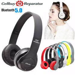 Wireless Headphones Bluetooth Headset Noise Cancelling Over Ear With Microphone $8.99