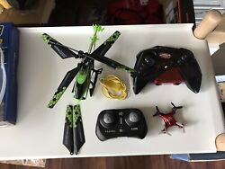 Sky Rover Swift 3 Channel Helicopter Remote Controlled And An X01 Mini Drone $19.89