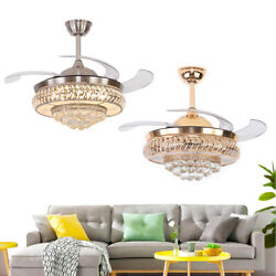 Modern Crystal Ceiling Invisible Fan Light LED Chandelier Lamp Pendant 36quot; 42quot; $141.00