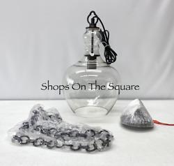 NEW Pottery Barn Flynn Recycled SMALL 11.5quot; Glass Pendant Bronze $139.99