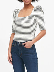 BANANA REPUBLIC Square Neck Puff Sleeve T Shirts #53807 9 $11.99