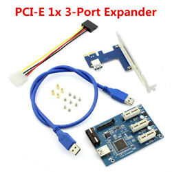 1 to 3 PCI 1X Slots Riser Card ITX 3 PCI e Slot Adapter Expander Plastic amp; Metal $32.30