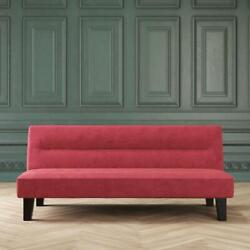 SLEEPER SOFA BED FUTON Convertible Couch Lounger Modern Living Room Loveseat Red $151.22