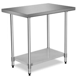 Commercial 24quot; x 36quot; Stainless Steel Food Prep Table Kitchen Home Restaurant