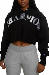 Champion Women#x27;s Reverse Weave Cropped Hoodie X Large $31.99