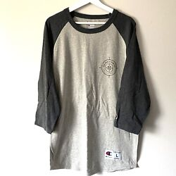 Champion baseball Tee The new frontier compass large gray blue graphic $14.99