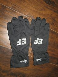RAPHA EF Education First Pro Cycling Team Rain Gloves Full Finger Black Medium M $99.99