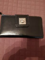 Target Silver Pewter Wallet With Checkbook Holder $12.90