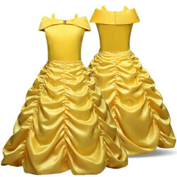 Baby Kids Girls Birthday Party Princess Dress Up Belle Cosplay Costume Gown $15.99