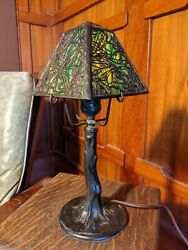 Handel closed top pine needle desk lamp1 of 2 available mission arts and crafts $1475.00