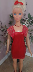 My size 36quot; Barbie Party Red Dress necklace included $20.99