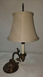 Electric Brass Oil Lamp Style Candlestick Lamp with Shade. $69.00