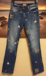 WOMENS SIZE 26X32 DRIFTWOOD KELLY JEANS Embroidered Flowers $40.00