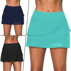 Women Multi layer Swim Skirt Bikini Swimsuit Swimwear Bottoms Tankini Boyshorts $17.88