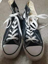 CONVERSE ALL STAR WOMENS SIZE 7.5 BLACK CANVAS HGH TOP SHOES $19.99
