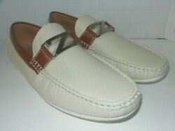 Bruno Homme WHITE SYNTHETIC LEATHER Driving Moccasins MENS SIZE 13 $20.99
