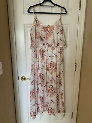 Leith Brand Floral Maxi Dress Size L Worn Once $14.99