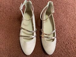 THE PLACE LITTLE GIRLS PALE PINK GOLD SIZE 4 ANKLE STRAP DRESS SHOES NEW $10.49