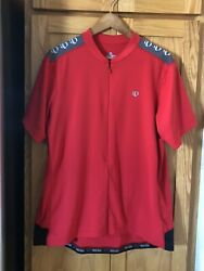 PEARL IZUMI SELECT SERIES MEN'S 1 2 ZIP CYCLING SHIRT RED SIZE XXL $25.95