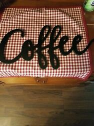 Coffee Themed Wooden Home Decor Wall Hangers Signs $15.00