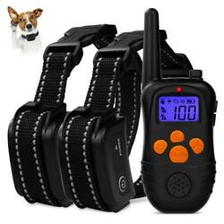 300m Remote Shock Dog Collar Waterproof Rechargeable Electric Pet Training Black $16.65
