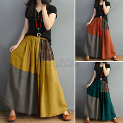 US STOCK Womens Skirts Striped Holiday Elastic Waist Pleated Skirt Dress Plus $16.57
