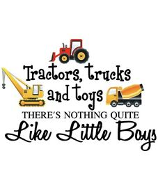 Perfect Sticker Tractors Trucks and Toys Boys Printed Home Vinyl Wall Decal Art $6.99