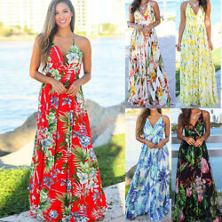 Women Lady Boho Bohemia Maxi Dress Cocktail Party Evening Summer Beach Sundress $16.99