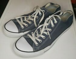 Converse All Star Sneakers size 11 Mens 13 Womens Black Canvas Low Top Lace Up $19.99