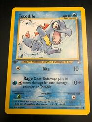 Pokemon Totodile 1st Edition Neo Genesis Card 80 111 $19.95