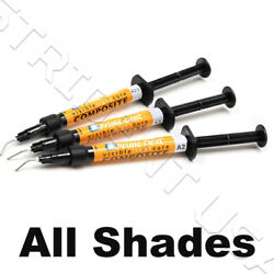 Prime Dent Flowable Light Cure Dental Composite Syringe Kit All Shades USA FDA $9.49