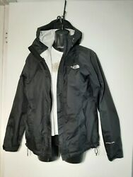 The North Face Womens Hoodied Rain Jacket Size S Wind Breaker Hy Vent 2.5L Black $30.99