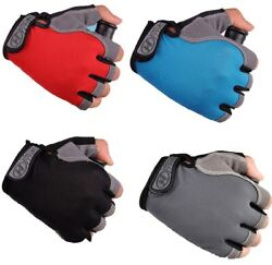 Cycling Gloves Bicycle Gloves Bike Gloves Anti Slip Shock Breathable Half Riding $4.74