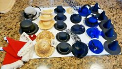 Lot of 29 mini hats variety for craft dolls or as hair clips $40.00