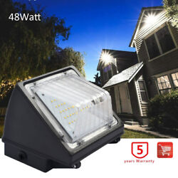 48W Commercial LED Wall Pack Light Outdoor Industrial Security Light IP65 5000K