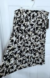 New Sag Harbor 3X Womens Rayon Skirt Plus Size Long Floral Print $13.49