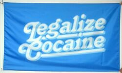 Legalize Cocaine 3x5 feet flag forfor Man Cave Wall Room party funny dorm $10.99