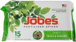 Jobe#x27;s Fertilizer Spikes for Trees and ShrubsTime ReleaseNourish at Roots15 $14.24