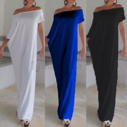 US STOCK Women#x27;s Summer Party Gown One Shoulder Irregular Long Maxi Shirt Dress $20.67