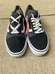 Vans Off The Wall Mens Skating Shoes Size 7.5 Black Athletic Canvas Low Top $27.00