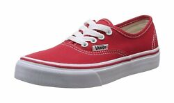 Vans Authentic Little Boys Girls Canvas Shoes Sneakers 0WWX6RT Red White $30.00
